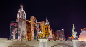 Neues York-Neues York-Hotel in Las Vegas Stockbild