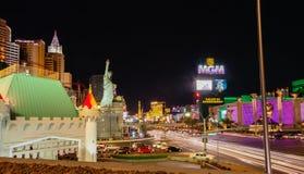 Neues York-neues York und Mgm- Grandhotel in Las Vegas Stockfotografie