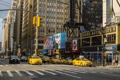Neues York Settembre 2016: Die legendären gelben Fahrerhäuser von New York Stockbilder