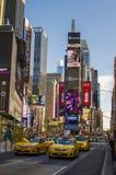 Neues York Settembre 2016: Die legendären gelben Fahrerhäuser von New York Stockbild