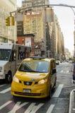 Neues York Settembre 2016: Die legendären gelben Fahrerhäuser von New York Lizenzfreies Stockbild