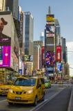 Neues York Settembre 2016: Die legendären gelben Fahrerhäuser von New York Lizenzfreie Stockfotografie