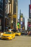 Neues York Settembre 2016: Die legendären gelben Fahrerhäuser von New York Lizenzfreie Stockbilder