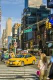 Neues York Settembre 2016: Die legendären gelben Fahrerhäuser von New York Lizenzfreie Stockfotos