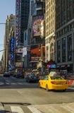 Neues York Settembre 2016: Die legendären gelben Fahrerhäuser von New York Lizenzfreies Stockfoto