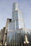Neues Zeichen auf dem Trumpf-Turm in Chicago Stockbild