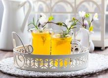 Neues Zitronengetränk mit Rosmarin lizenzfreie stockfotos