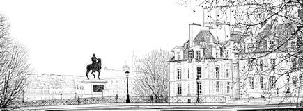 neuf巴黎pont 库存照片