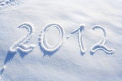 An neuf 2012 Photo libre de droits