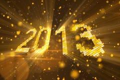 An neuf 2013 de salutations des éléments jaunes brillants Image libre de droits