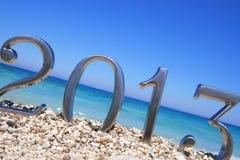 An neuf 2013 sur la plage Image stock