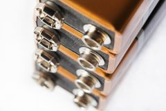 Neuf batteries de volt photos libres de droits