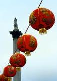 An neuf chinois à Londres Images libres de droits