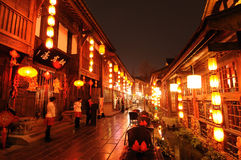 An neuf chinois dans la vieille rue de Jinli