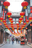 An neuf chinois dans la vieille rue de Jinli Photo stock