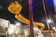 An neuf chinois de serpent Image stock