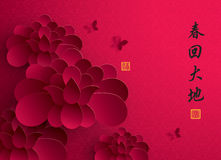 An neuf chinois Graphique de papier de vecteur de Lotus Images libres de droits