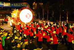 An neuf chinois international de Cathay Pacific proche Image libre de droits