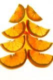 An neuf décorant l'orange Image libre de droits