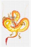 An neuf de dragon chinois Photo libre de droits