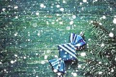 an neuf de Noël de fond Jouet bleu de Noël sous forme de Images libres de droits