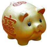 an neuf de porc d'or chinois Images libres de droits
