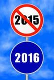 An neuf de signe rond Images libres de droits