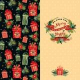 an neuf de vecteur d'image heureuse générée par ordinateur de Noël de fond joyeux Photos stock