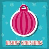 an neuf de vecteur d'image heureuse générée par ordinateur de Noël de fond joyeux illustration stock