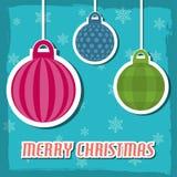 an neuf de vecteur d'image heureuse générée par ordinateur de Noël de fond joyeux illustration de vecteur