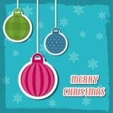 an neuf de vecteur d'image heureuse générée par ordinateur de Noël de fond joyeux illustration libre de droits