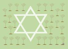 An neuf des arbres ou du Bi-Shvat du TU illustration stock