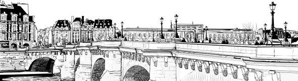 Neuf di Pont - di Parigi Immagini Stock