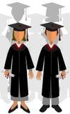 Neuf diplômés Photos libres de droits
