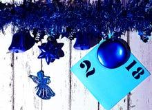 An neuf et carte de Noël Photos libres de droits