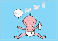 An neuf heureux ! ! ! Photo libre de droits