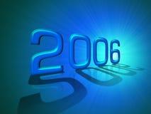 An neuf heureux 2006 image libre de droits