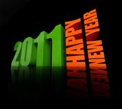 An neuf heureux 2011 Image stock