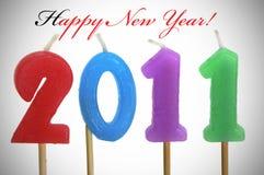 An neuf heureux 2011 Photos stock