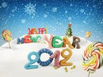 An neuf heureux 2012 Photos stock