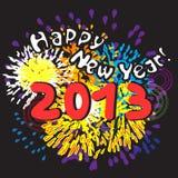 An neuf heureux 2013 Photo stock