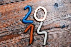 An neuf heureux 2014 Photos libres de droits