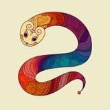 An neuf heureux 2013 Année de serpent Vecteur chinois Images libres de droits