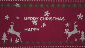 an neuf heureux de Noël joyeux banque de vidéos
