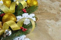 an neuf heureux de Noël joyeux fond concret Nouveau an image libre de droits
