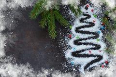 an neuf heureux de Noël joyeux Résumé, Noël adorable photo libre de droits