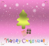 An neuf heureux et Joyeux Noël Photographie stock