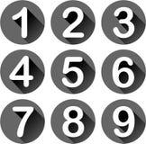 Neuf icônes de nombres Photo libre de droits