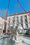 Neuf Jets Fountain at Ceret, France Royalty Free Stock Photo