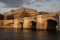 neuf Paris pont fotografia royalty free
